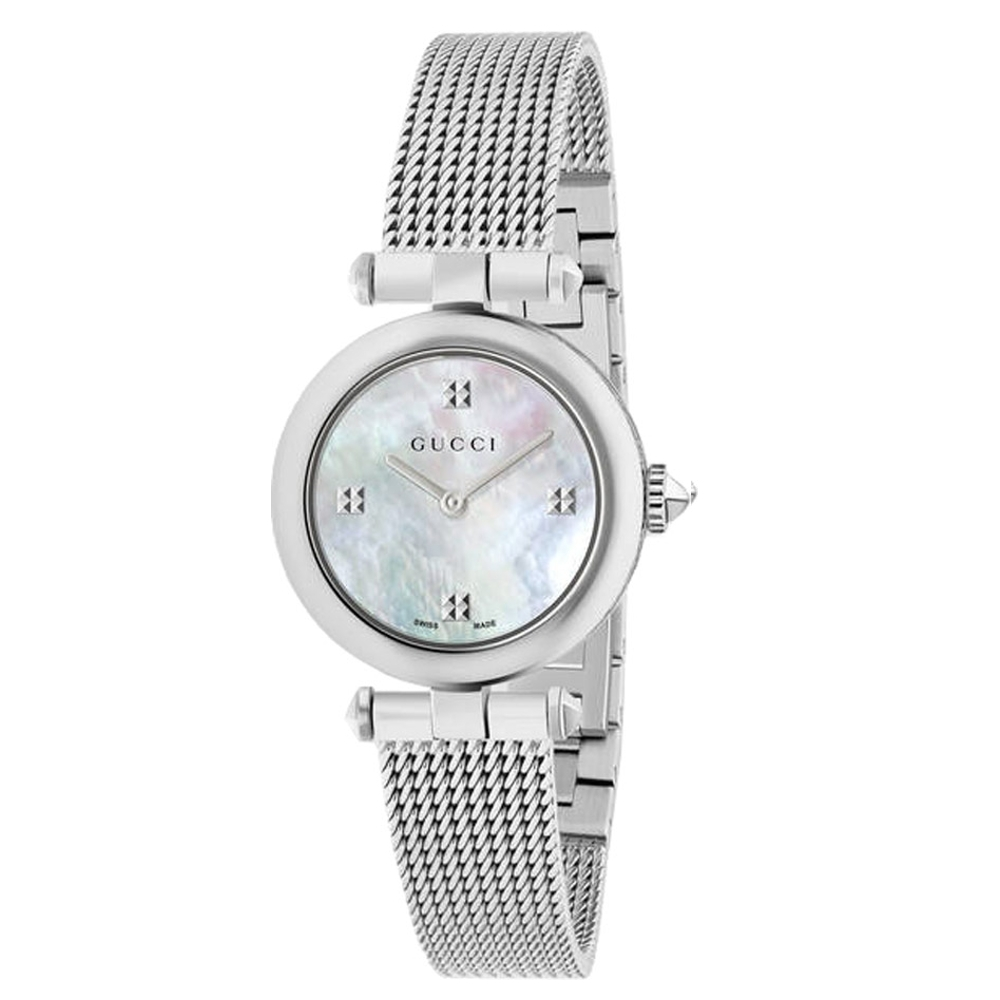 GUCCI Diamantissima典雅米蘭帶腕錶27mm(YA141504)