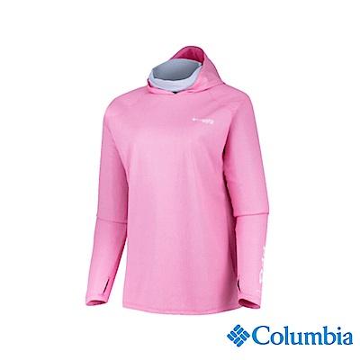 Columbia 哥倫比亞 女款-UPF50涼感快排連帽上衣-粉紅 UFL00540