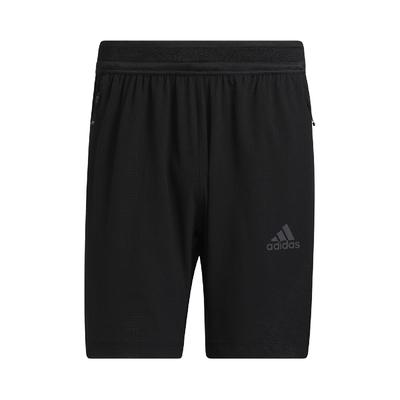 adidas 短褲 Warrior Woven Shorts 男款 HEAT.RDY 吸濕排汗 膝上 運動休閒 黑灰 GT8272