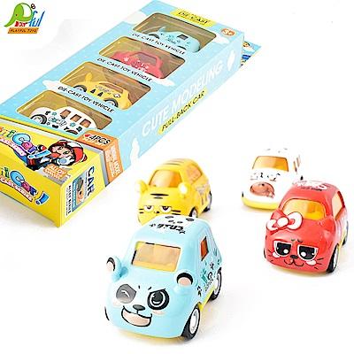 Playful Toys 頑玩具 四入迴力車