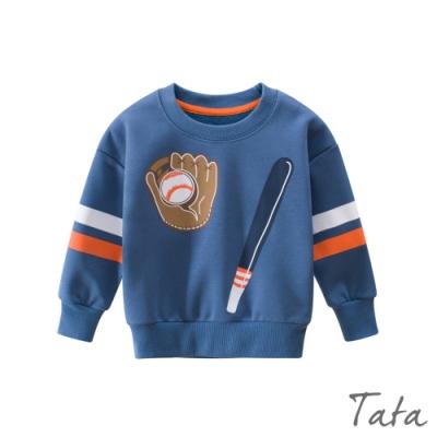 童裝 棒球印花撞色上衣 TATA KIDS