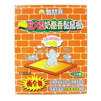 黏鼠寶超大型奶酪香黏鼠板-2入×10組