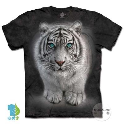 摩達客-美國進口The Mountain 凝視白虎 純棉環保中性短袖T恤