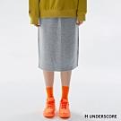 H UNDERSCORE 全新潮牌 女裝 - 抽繩純色休閒中長裙 - 灰色