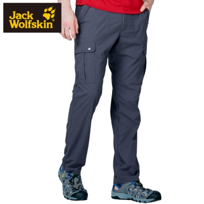 【Jack wolfskin 飛狼】男 Supplex 彈性快乾休閒長褲 多口袋『鐵灰』