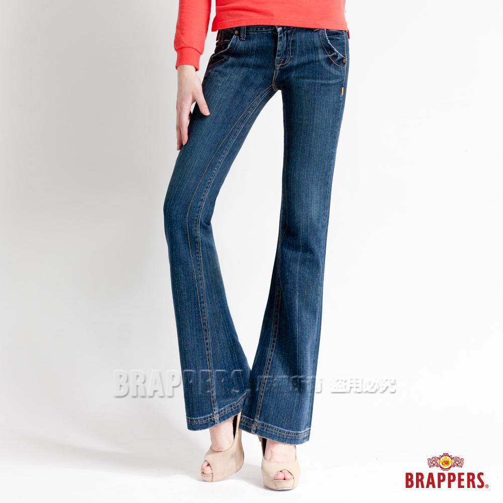 BRAPPERS 女款 女款系列-女用小喇叭褲-藍