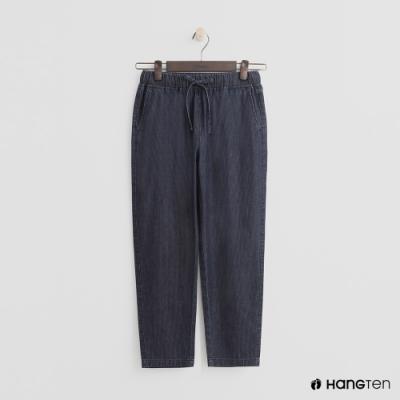 Hang Ten - 女裝 -鬆緊抽繩棉質九分褲 - 深藍