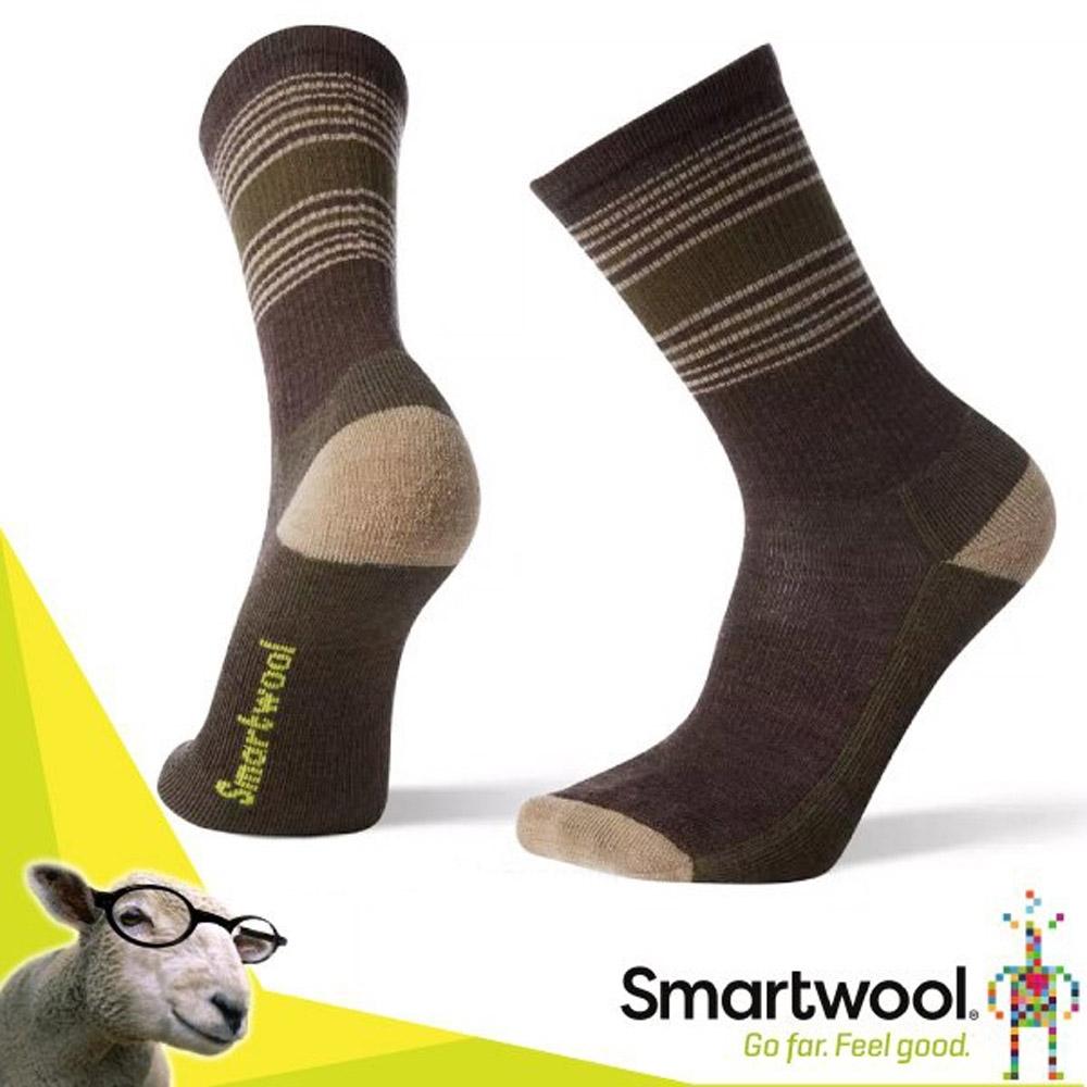 美國 SmartWool 美麗諾羊毛 男新款 戶外輕量徒步印花中長襪(2入)_栗子棕