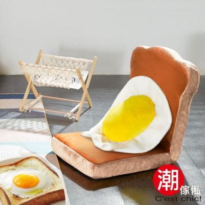 C est Chic_TOAST厚切炭烤蛋吐司和室椅-6段調節(Brown)