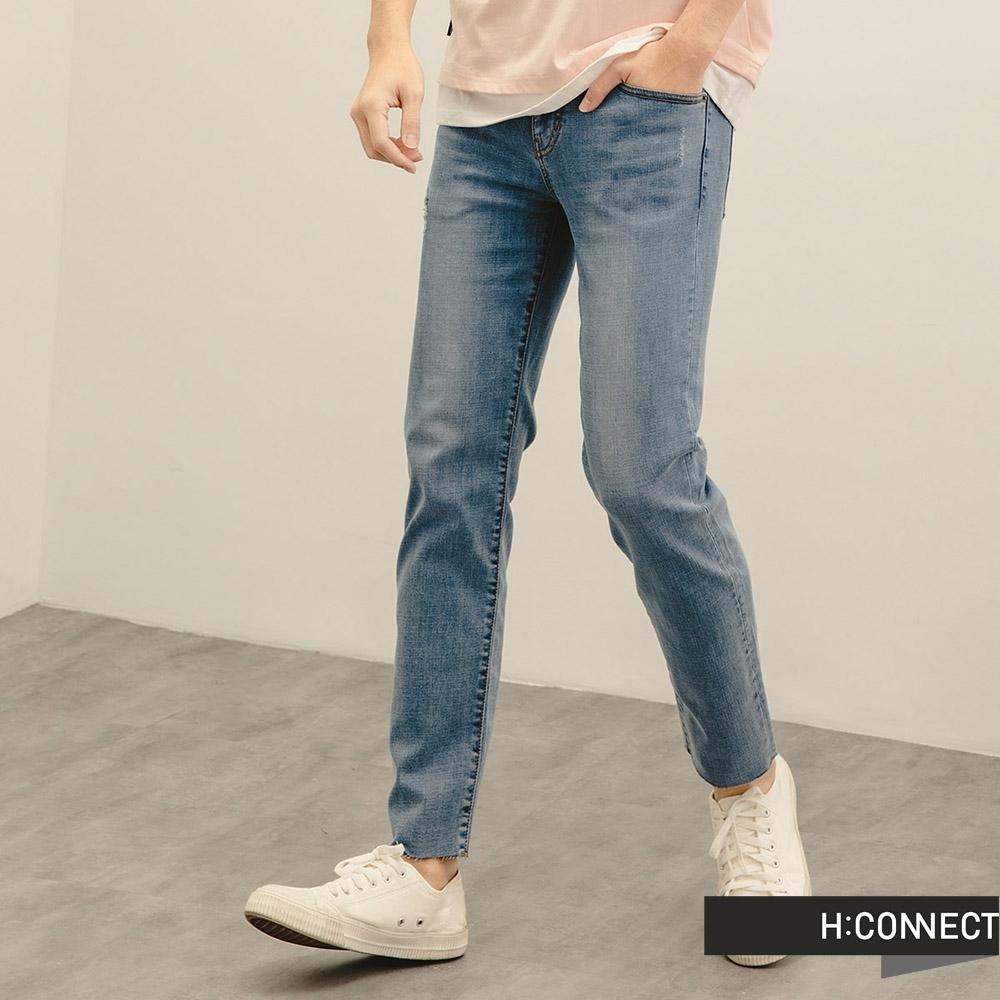 H:CONNECT 韓國品牌 男裝-隨性水洗微彈牛仔褲