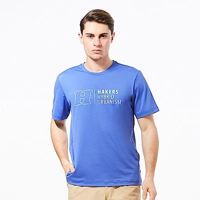 【HAKERS 】男  抗UV快乾圓領衫-蔚藍