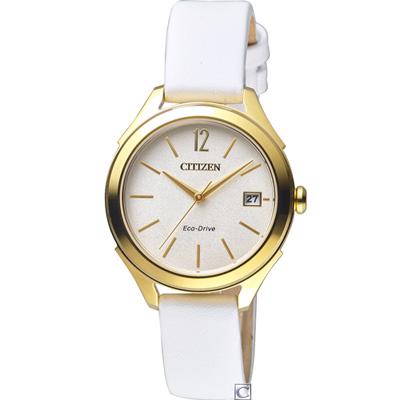 CITIZEN 星辰典雅時尚光動能腕錶(FE6148-10A)33.5mm