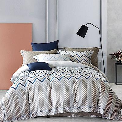 Lily Royal 60支頂級天絲 四件式兩用被床包組 加大 風的腳印
