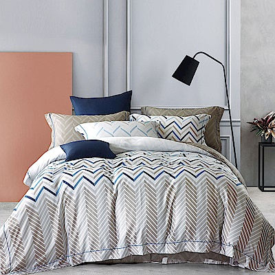 Lily Royal 60支頂級天絲 三件式床包組 加大 風的腳印
