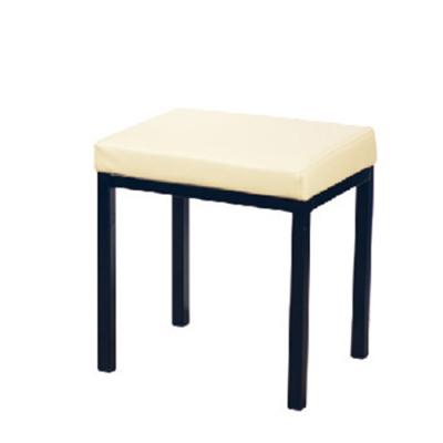 H&D 米白色四方鐵椅