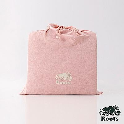 ROOTS有機棉雙人床包-粉
