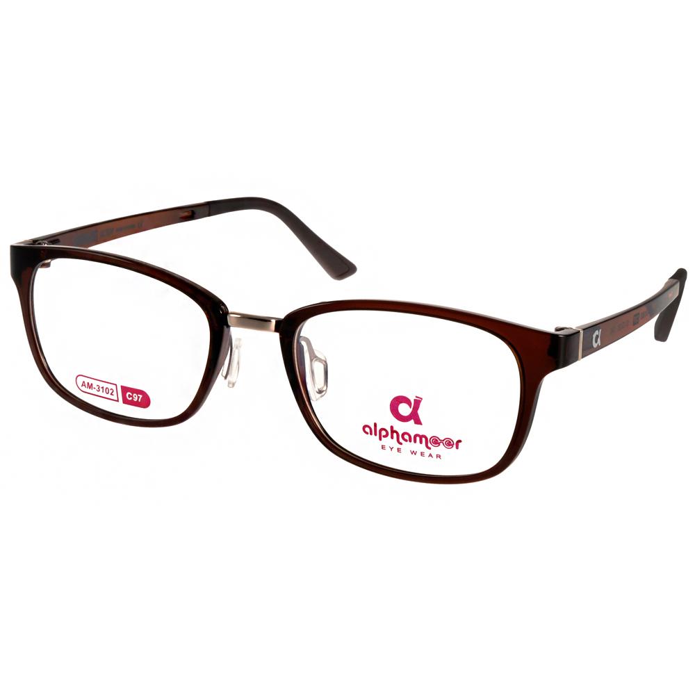 Alphameer光學眼鏡 韓國塑鋼系列/透棕#AM3102 C97
