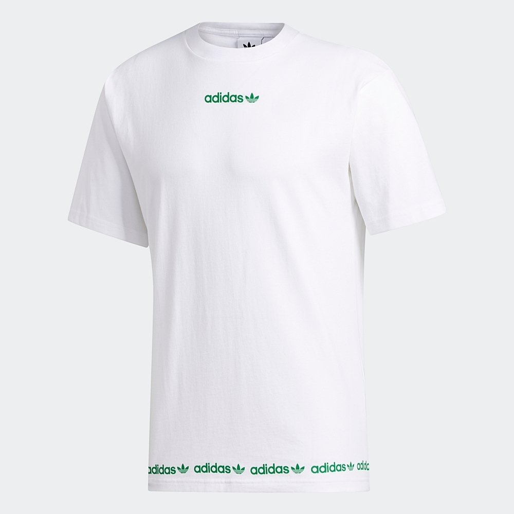 adidas 短袖上衣 運動 訓練 休閒 男款 白 GD2113 Linear Logo Repeat Short Sleeve Tee