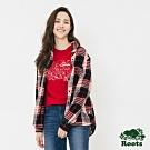女裝ROOTS - 海達前短後長長袖襯衫-紅