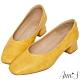 Ann'S豆腐岩-顯瘦V口方頭低跟鞋-黃 product thumbnail 1