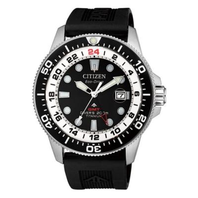 CITIZEN 星辰PROMASTER百搭潮流光動能手錶(BJ7110-11E 橡膠)