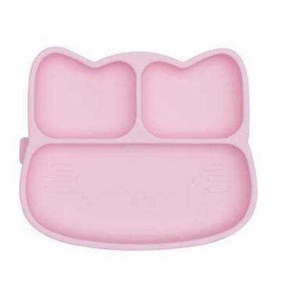 澳洲We Might Be Tiny 矽膠分隔餐盤小花貓-粉紅