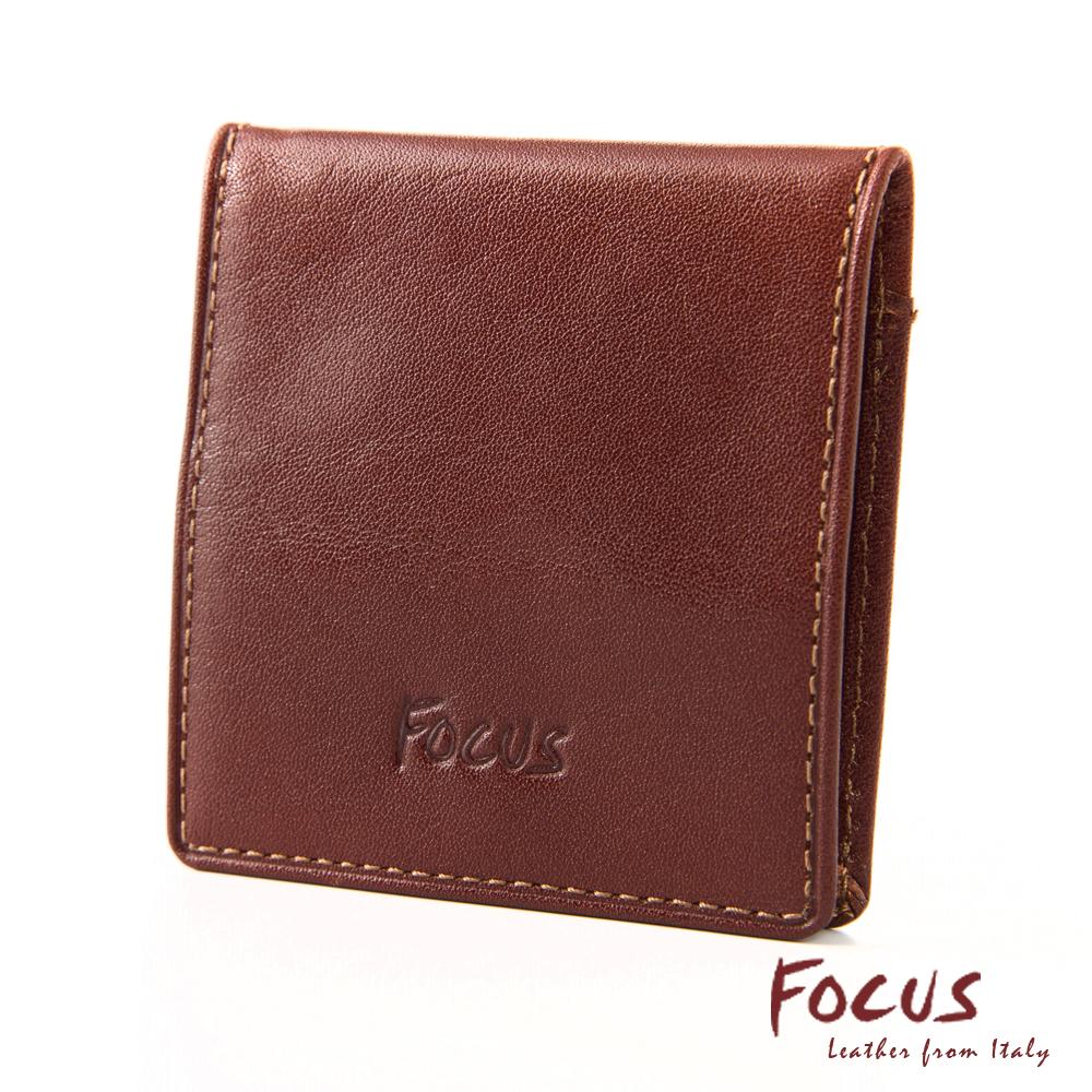 FOCUS經典原皮四方形超薄零錢包(FTA0058)