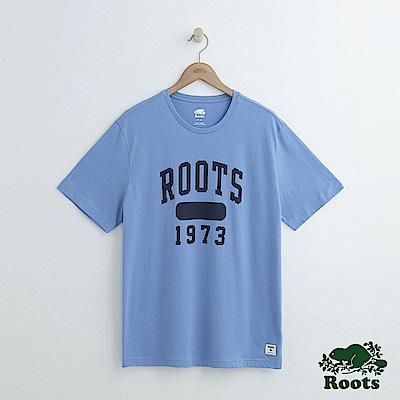 男裝Roots 1973短袖T恤-藍