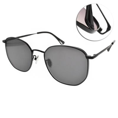 NINE ACCORD太陽眼鏡  簡約率性多邊款/霧黑-灰鏡片 #KISSING BANT C3