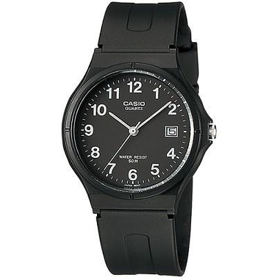 CASIO 簡單生活風時間腕錶-黑X數字刻(MW-59-1B)/28mm