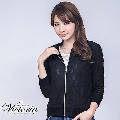 Victoria 蕾絲小外套-女-黑