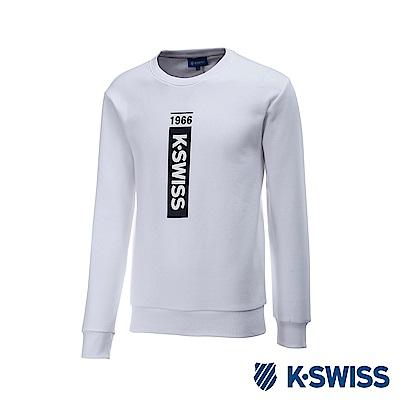 K-Swiss Crew Neck Sweatshirt 刷毛圓領上衣-女-白