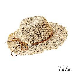 度假編織花邊遮陽帽 TATA