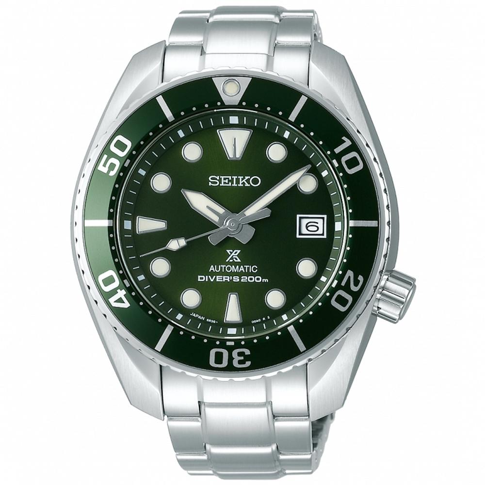 SEIKO精工 Prospex 綠水鬼相撲廣告款潛水機械錶SPB103J1-綠/45mm
