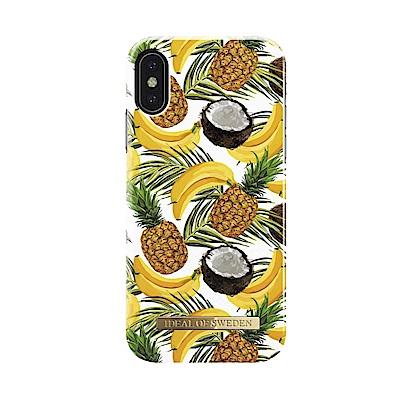 iDeal iPhone X/XS 瑞典北歐時尚手機保護殼-夏季水果調酒