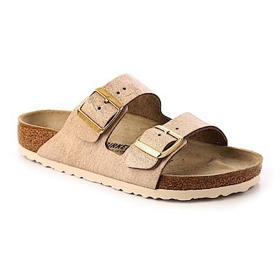 勃肯BIRKENSTOCK 1008799ARIZONA經典二條拖鞋(玫瑰沙金)