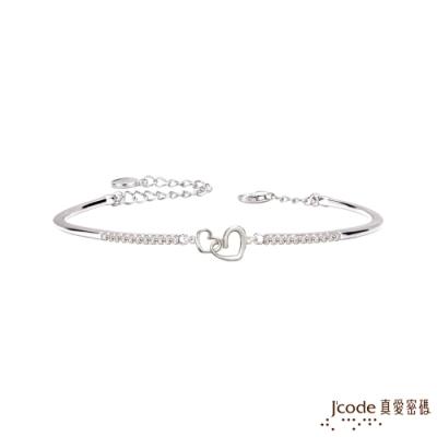 J code真愛密碼 心心相扣純銀手環