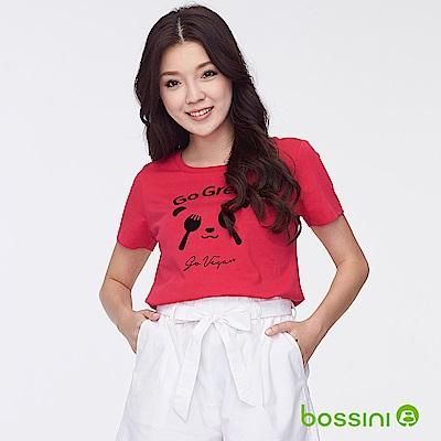 bossini女裝-印花短袖T恤30桃紅