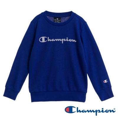Champion EU童草寫Logo大學Tee 寶藍色