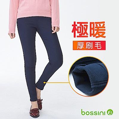 bossini女裝-厚刷毛超彈窄管褲01海軍藍