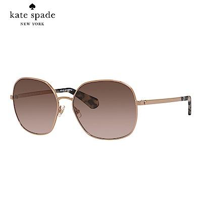 Kate Spade CRELISA/S-時尚方框太陽眼鏡 暗粉色
