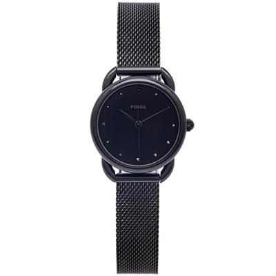 FOSSIL 優雅風米蘭帶款手錶(ES4489)-黑面X黑色/26mm