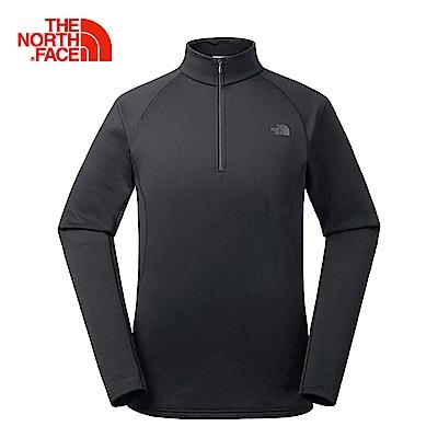 The North Face北面男款黑色舒適快乾長袖上衣 | CK16KX7