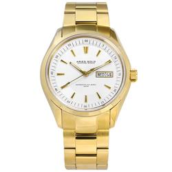 ARIES GOLD 機械錶 自動上鍊 藍寶石水晶玻璃 不鏽鋼手錶-銀白x鍍金/42mm