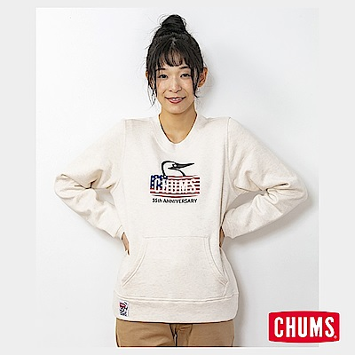 CHUMS 日本 女 35周年紀念大學T Booby Face 米