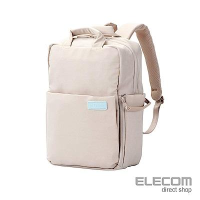 ELECOM 帆布3WAY薄型後背包OF05(限定色)-S卡其
