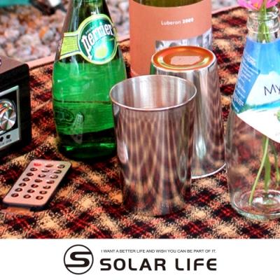【索樂生活】304不鏽鋼便攜式啤酒飲料水杯8入套組附收納袋 戶外露營野餐不銹鋼咖啡茶飲白酒