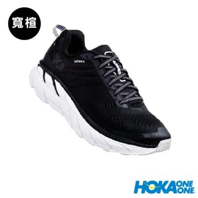 HOKA ONE ONE 男 Clifton 6 寬楦 路跑鞋 黑白