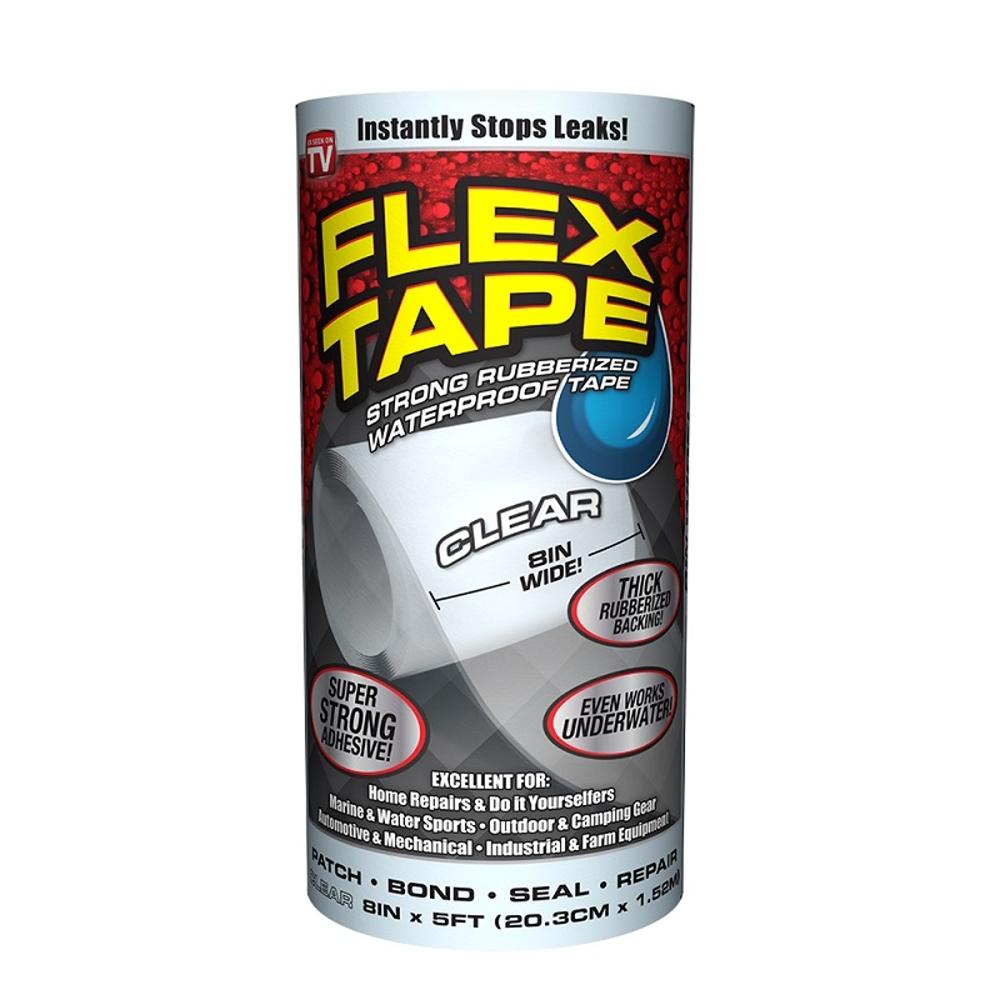 美國FLEX TAPE強固型修補膠帶-8吋寬版(透明色)