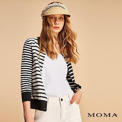MOMA 不對稱條紋針織外套